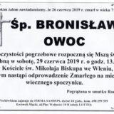 Ś.P. Bronisław Owoc 26.06.2019 r. Lwówek Śląski – Wleń