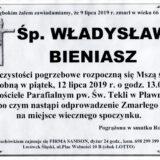 Ś.P. Władysław Bieniasz 09.07.2019 r. Lwówek Śląski – Pławna
