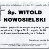 Ś.P. Witold Nowosielski 12.07.2019 r. Lwówek Śląski – Sobota