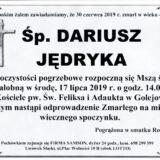 Ś.P. Dariusz Jędryka 30.06.2019 r. Lwówek Śląski – Golejów