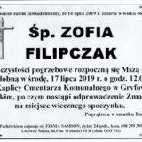 Ś.P. Zofia Filipczak 14.07.2019 r. Lwówek Śląski – Gryfów Śląski