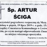 Ś.P. Artur Ściga 17.07.2019 r. Lwówek Śląski