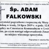 Ś.P. Adam Falkowski 21.07.2019 r. Lwówek Śląski