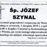 Ś.P. Józej Szynal 29.07.2019 r. Lwówek Śląski – Wleń