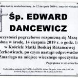 Ś.P. Edward Dancewicz 12.08.2019 r. Lwówek Śląski – Żerkowice