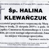 Ś.P. Halina Klewańczuk 17.08.2019 r. Lwówek Śląski