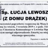 Ś.P. Łucja Lewosz 27.08.2019 r. Lwówek Śląski