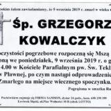 Ś.P. Grzegorz Kowalczyk 05.09.2019 r. Lwówek Śląski – Pławna