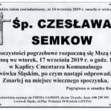 Ś.P. Czesława Semków 14.09.2019 r. Lwówek Śląski