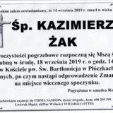 Ś.P. Kazimierz Żak 14.09.2019 r. Lwówek Śląski – Płóczki Górne